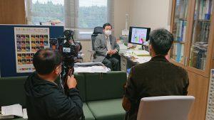 韓国国営テレビKBS取材(新潟工科大学門脇教授編)